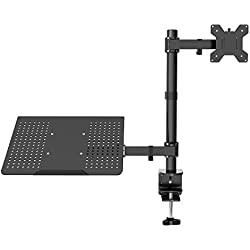 "1home Laptop Notebook Stand Girevole Monitor Braccio da Scrivania C-Morsetto Regolabile Adatto 13""-27"""