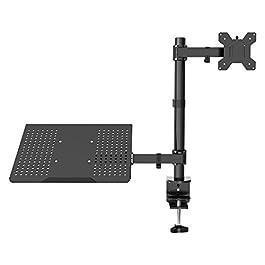 """1home Laptop Notebook Stand Girevole Monitor Braccio da Scrivania C-Morsetto Regolabile Adatto 13""""-27"""""""
