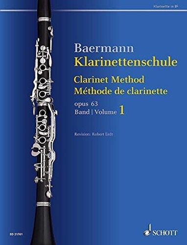 Klarinettenschule: Band 1: No. 1-33. op. 63. Klarinette in B. (Baermann - Klarinettenschule)