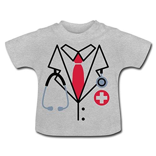 Arzt Kostüm Baby T-Shirt von Spreadshirt®, 6-12 Monate, Grau (Kostüm Arzt 12)