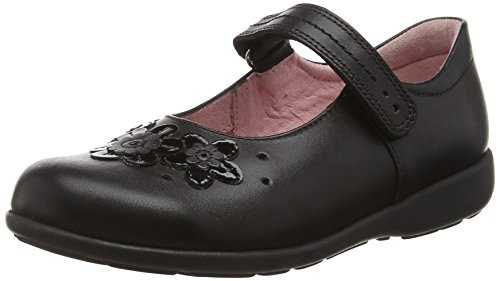 Start-Rite Fleur Leather - Mary Jane Chica, Color Negro (Black 7), Talla 13.5 UK (32.5 EU)