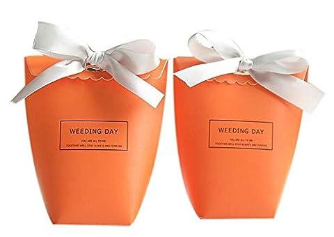 20pcs Parti Bonbons Mariage Favor Creative Box Birthday Party boîte-cadeau, Orange