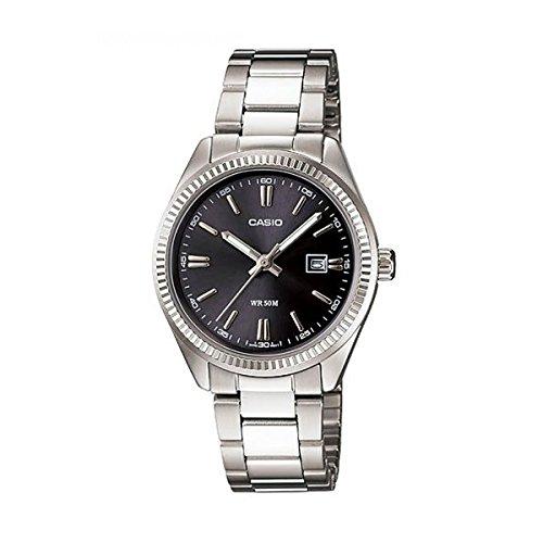 Casio LTP1302D-1A1V Damen Uhr (Casio Damen-uhr Silber)