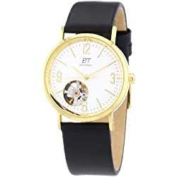 ETT Eco Tech Time Damen-Armbanduhr XS Motion Drive Analog Automatik Leder ELS-40130-41L