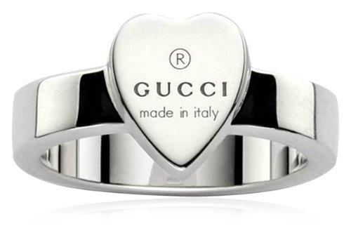 Gucci Damen-Ring mit graviertem Herz Sterlingsilber Gr.49 YBC22386700149