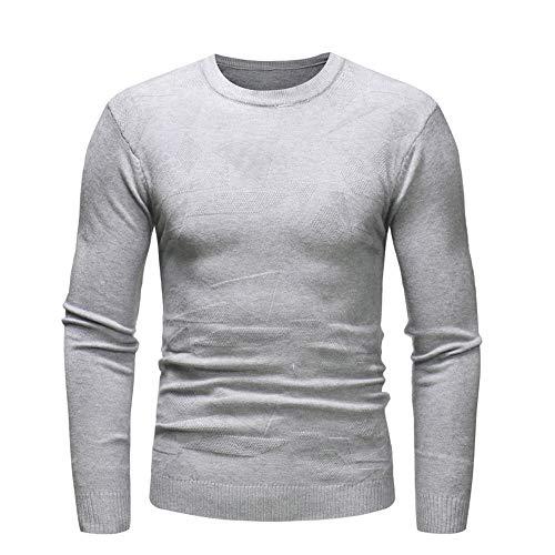 Cebbay Sport Tee Shirt Homme Mode Sweat-Shirts, Personnalité Pull Gentilhomme Slim Jumper Knitwear, Automne Hiver Tops Outwear Blouse Liquidation Pas Cher(Gris,EU-42/CN-M)