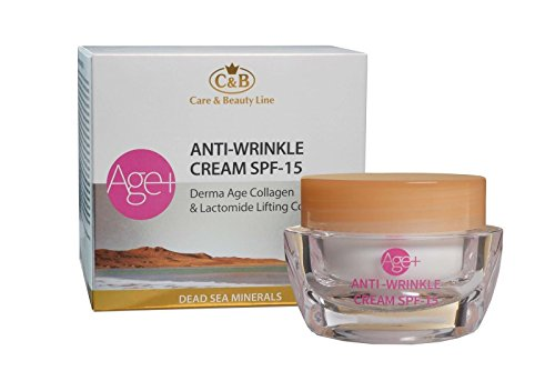 C&B Dead Sea Minerals Age+ Anti-Wrinkle Day Cream SPF 15 Derma Age Collagen
