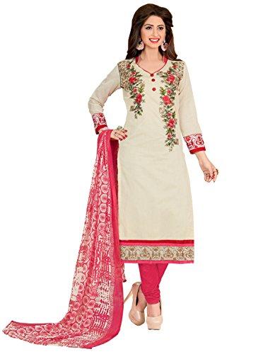 DnVeens Chanderi dress materials for women new collection churidar material below rs...