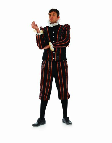 ADULT MENS BLACKADDER TUDOR EARL FANCY DRESS COSTUME - SIZE (Lieferung Dress Fancy)