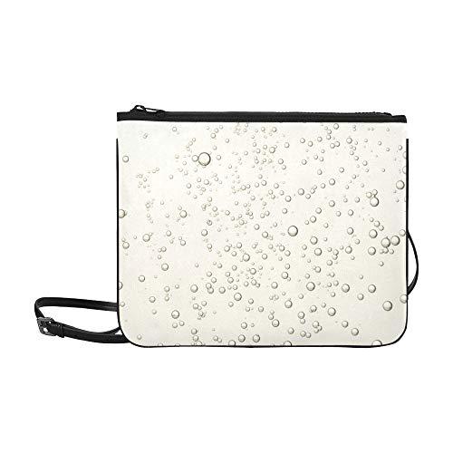 EIJODNL Schöne Blase Seife Bubbles Pattern Benutzerdefinierte hochwertige Nylon Slim Clutch Crossbody Tasche Umhängetasche (Saft Seife)