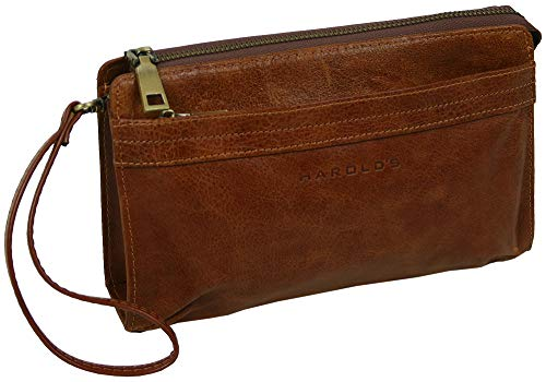 0539fc1e82d86 HAROLD S Echtleder Handgelenktasche mit abnehmbarer Schlaufe - praktische  Herren-Handtasche aus weichem