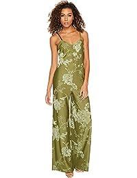 d386852f84 PUMA Women s Fenty Jacquard Jumpsuit Olive Branch Knit Jacquard Large