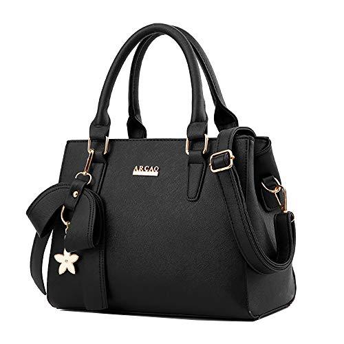 Damen Rucksäcke Handtaschen Schultertaschen Tasche weibliche Tasche Handtasche Mode Big Bag Bow Killer Bag - Tan Leder-clutch