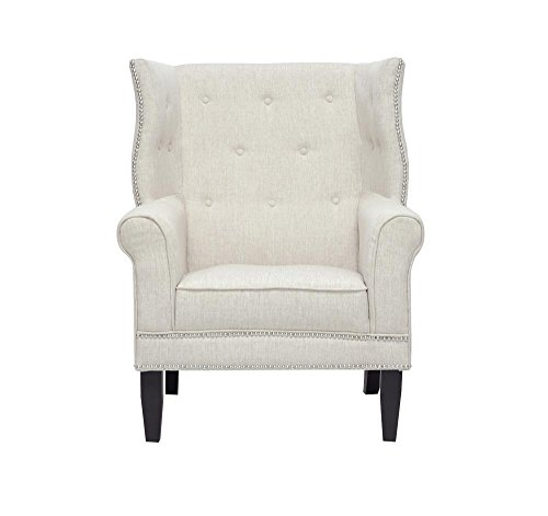 Afydecor A-CH056 Wingback Chair (Off-White)