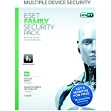 Eset Family Security Pack (10 licences, 1 year) (PC/Android/Mac/Linux)(Eco-friendly packaging)