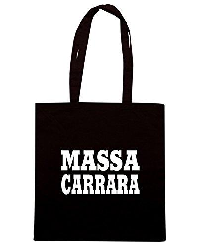T-Shirtshock - Borsa Shopping WC0898 MASSA CARRARA ITALIA CITTA STEMMA LOGO Nero