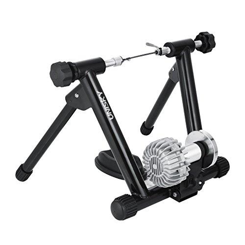 BuoQua 150kg Rullo Per Bicicletta Per Allenamento In Casa Nero Rullo Allenamento Elastomero Rulli Bicicletta MTB Rullo Turbo Trainer Magnetico Per Bicicletta Con Regolatore Velocità