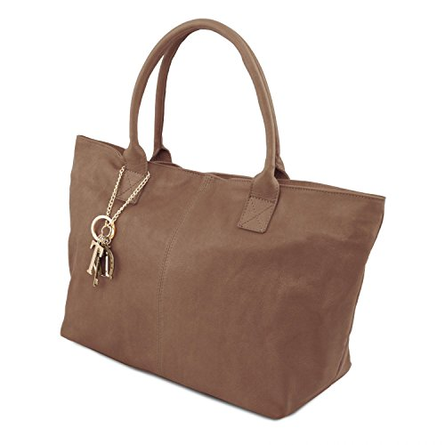 0f6ed6e862 Tuscany Leather TL KeyLuck Borsa donna in pelle Cognac Talpa scuro ...