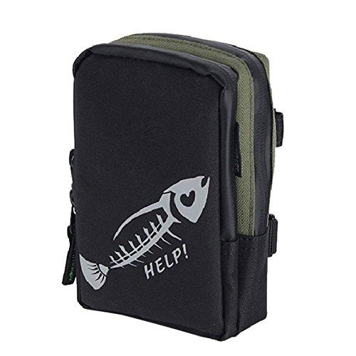 Leezo Angelrolle Tasche Kleine Rucksäcke 1000D Oxford Tuch behandelt Wasserdichten Anti Slip Portable Outdoor Aufbewahrungskoffer Container für Linie