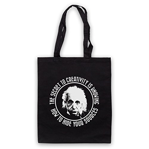 Albert Einstein Segreto Per La Creatività Cape Bags Nero