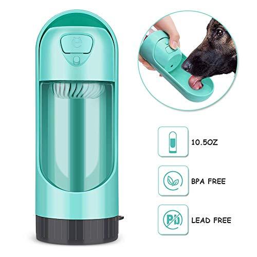 JTYR Tragbare pet wasserflasche für Walking pet reisespender tragbare trinkbecher für welpen Outdoor wandern 10,5 Unze (grün) -