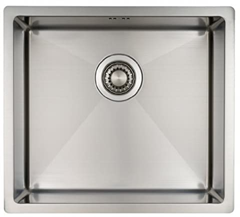 Kitchen Sink Mizzo Design - One/Single Bowl Square Stainless Steel Kitchen Sink- For both undermount and flushmount installation - Satin finish - R 10mm by Mizzo Design ®
