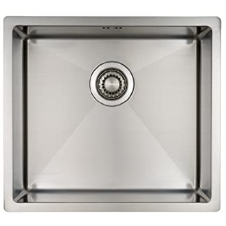 Fregadero de Cocina Mizzo Linea 45-40 | Acero Inoxidable 304 | Mueble de 50 cm | Montaje Bajo o Sobre Encimera o al Ras | Radio 10mm | 1 Seno