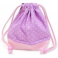 Preisvergleich für x Ox pink made in Japan N3566600 (pink dots on purple ground) drawstring Gokigen lunch (small size) with gusset bag polka dot cup (japan import)
