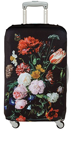 JAN DAVIDSZ de HEEM Still Life with Flowers in a Glass Vase Cover Medium: Größe medium: 58 - 65cm, 85% Polyester and 15% Spandex, material strength 310 GSM, water-resistant, washable, - Dehnbare Koffer Abdeckung
