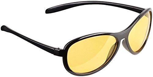 PEARL Autobrille: Kontrastverstärkende Nachtsichtbrille, polarisiert (Nachtfahr Kontrast Brillen)