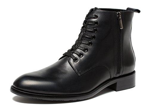 opp-hombre-retro-cuero-martin-boots-botas-zapatos40eu-negro