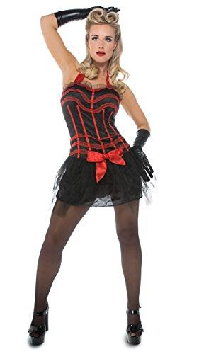Seiler24 Sexy Moulin Rouge Kostüm für Damen Gr. 40-42