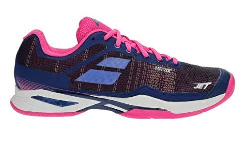 Babolat Donna Jet Mach I Clay Scarpe da Tennis Scarpa per Terra Rossa Blu Scuro - Rosa 39