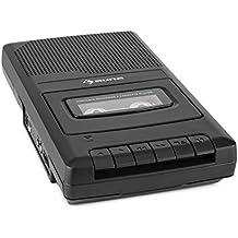 auna RQ-132 Kassettenrekorder Diktiergerät Tape-Recorder (integrierter Lautsprecher, Mikrofon-Anschluss, Kopfhörer-Ausgang, portable, Netz- und Batteriebetrieb) schwarz