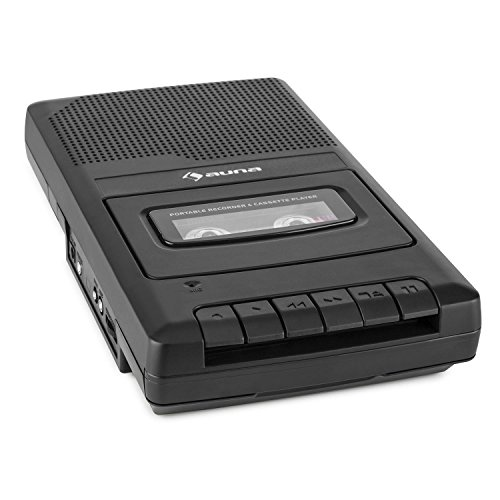 auna RQ-132 • Kassettenrekorder • Tonbandgerät • Diktiergerät • Tape Recorder • verbauter Lautsprecher • automatische Abschaltung • Mikrofon & Kopfhöreranschluss • Netz und Batteriebetrieb • schwarz