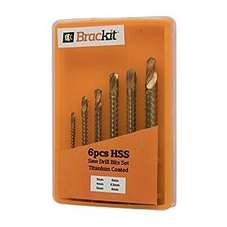 Bohrersatz HSS 6 Bohrspitzen Bohrer Bit Set Titan Bohrer 3mm 4mm 5mm 6mm 6,5mm 8mm Allzweckbohrerset Mehrzweckbohrer Metall Holz Kunststoff Anstellbox