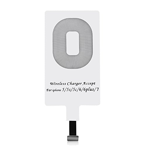 Iphone Qi Empfänger CHOETECH Wireless Charger Receiver Empfänger für iPhone 7/7 Plus, iPhone 6/6S/6 Plus, iPhone 5/5s/5c