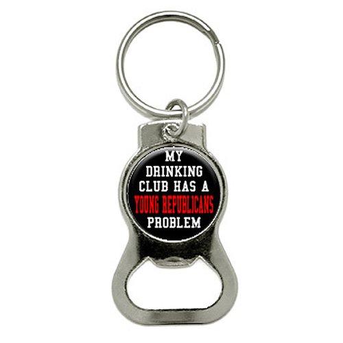 graphique et plus My boire Club dispose d'une jeune Républicains problème Décapsuleur Porte-clés (Kb0169)