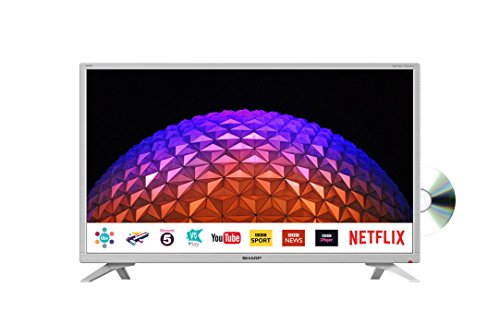 Sharp LC-32DI5232KFW 32 Inch HD Ready LED Freeview Play, Smart TV with Freeview HD, Built-In DVD Player, 3 x HDMI, Scart, USB Record - White