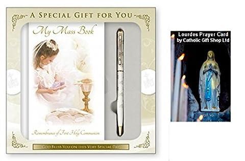 Girls First Holy Communion Mass Book and Pen Set