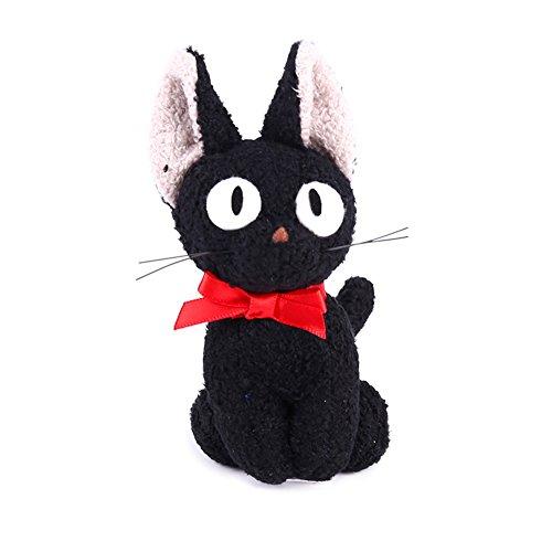 Kingmia Plüschtier Anhänger, Plüsch Spielzeug Anhänger Schwarze Katze Plüsch Kuscheltier/Stofftier / Flauschig 9cm(Schwarz2)