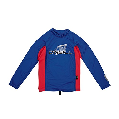 O´Neill Rash Guard YOUTH SKINS L/S CREW AP1 DEEPSEA/RED/DEEPSEA 4 (L/s Rash Crew Guard)