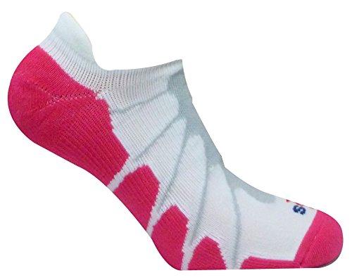 Sox Italien, Ghost No Show Silber drystat Plantar Support Performance Socken-ss6011, Herren Jungen Damen Mädchen, weiß/pink - Basketball-schuhe Jungen Größe Nike 6