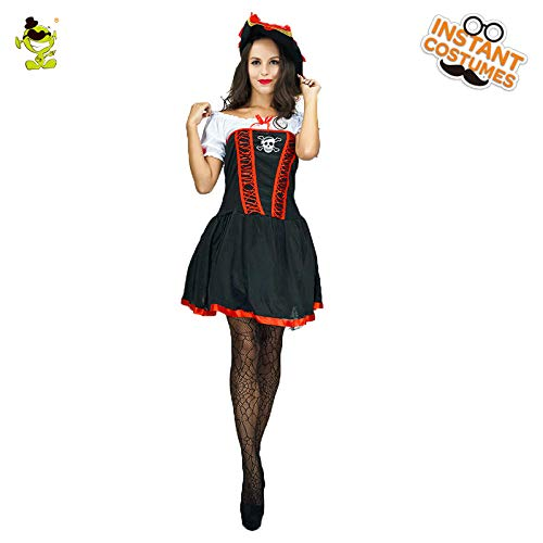 GAOGUAIG AA Buccaneer Piratenkostüm for Erwachsene Damen Beauty Halloween Kostüm Kostüme SD (Color : Onecolor, Size : Onesize) (Buccaneer Beauty Kostüm)