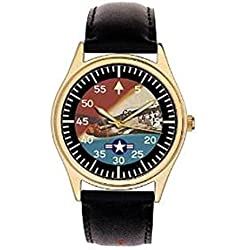 Mustang P-51 WW-II COMMEMORATIVE USAAF ART COLLECTORS' WRIST WATCH