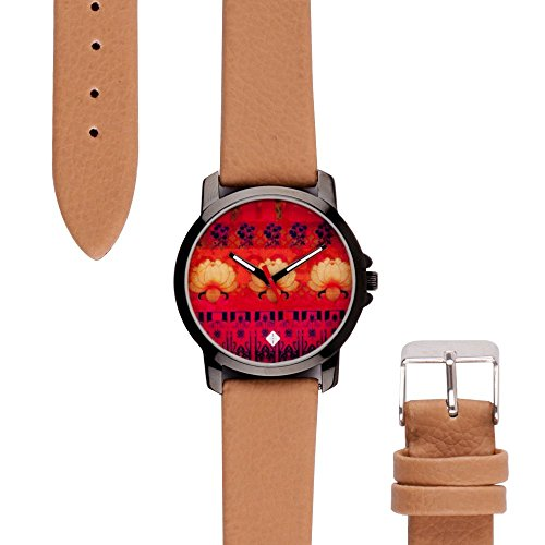India Circus Colour Zone PU Leather Women's Wrist Watch