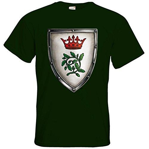 getshirts - Das Schwarze Auge - T-Shirt - Die streitenden Königreiche - Wappen Andergast S Bottle Green