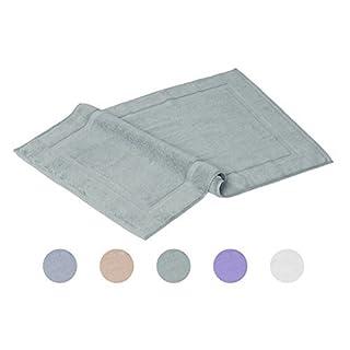 AM Home Fashion 20-Inch-33 -Inch 100% Cotton Washable Bath Mat, Shower Rug,2 pack