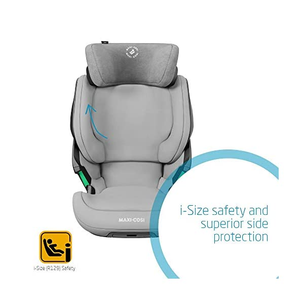 Maxi-Cosi Kore i-Size Child Car Seat, 3.5 - 12 years, 100 - 150 cm, Authentic Grey Maxi-Cosi Child car seat, suitable to use from 3.5 to 12 years (approx from 100 cm to 150 cm) ISOFIX installation is possible with this group 2/3 car seat for optimal stability Quick and easy to buckle up: This ISOFIX car seat is designed to enable children to get in and out and buckle up on their own in a few seconds 5