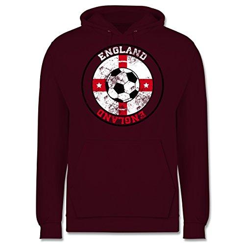 EM 2016 - Frankreich - England Kreis & Fußball Vintage - Männer Premium Kapuzenpullover / Hoodie Burgundrot